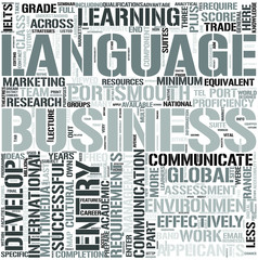International BusinessCommunication Word Cloud Concept
