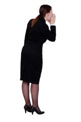 Businesswoman shouting