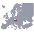 Europa-Karte Tschechische Republik