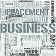 Business and Human Resource Management Word Cloud Concept