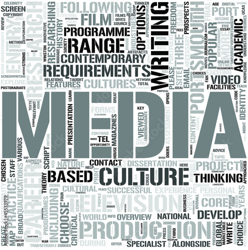 Media EnglishWord Cloud Concept