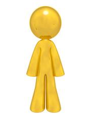 Gold Man Standing