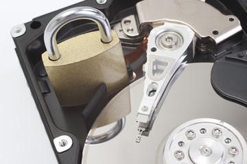 Secure hard disk drive