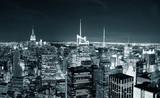 Fotoroleta New York City Manhattan skyline at night