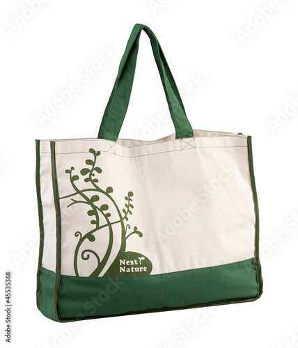 Nice and high capacity of the green fabric bag