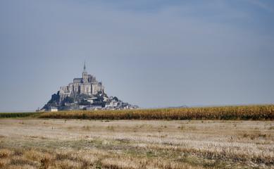 autumn view of Saint Michel castle, France