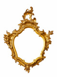 Gold frame unusual shape