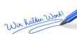 Stift- & Schriftserie: Wir halten Wort! blau