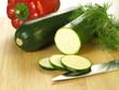 Zucchini and paprika
