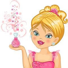 Princess with a bouquet