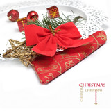 Christmas Decoration Border design isolated on white.