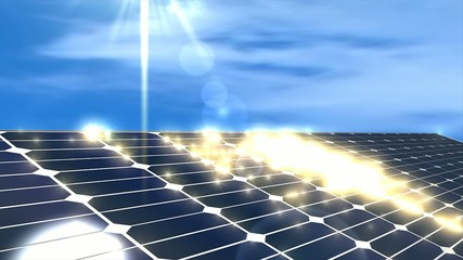 Solar power panel, concept animation.