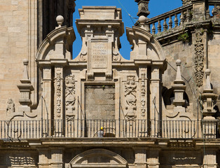 Royal gate of Compostela Cathedral