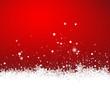 Roter Hintergrund, Schneeflocken, Eiskristall, Schnee, Eis, 2D