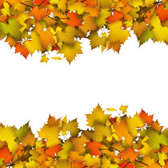 Herbstlich, Herbstblätter, Hintergrund, Textfläche, Vorlage