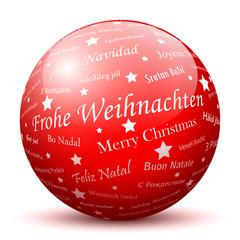 Frohe Weihnachten, Kugel, Glaskugel, Weihnachtskugel, Dekoration