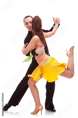 nice salsa dancing couple