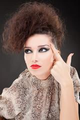 young fashion woman looking away