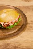 Crisp bred on wooden dish poster
