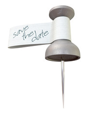 Save The Date Metal Thumbtack