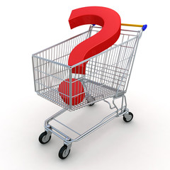 Shopping Cart with Question