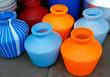Wasserbehälter auf Straßenmarkt, Südindien