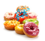Fototapety baked donuts