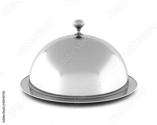 Closed cloche, isolated on white background