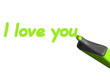 Marker - i love you
