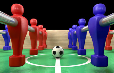 Foosball Table Closeup