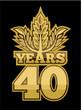 Golden laurel wreath 40 years