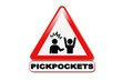 Panneau attention aux pickpockets