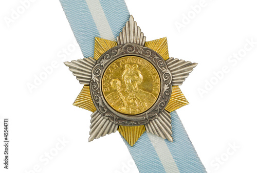 Order of Bohdan Khmelnytsky I degree on the ribbon.