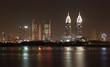 Dubai Internet City skyline at night. Dubai