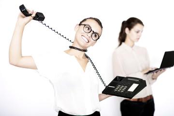 Beratungsgespräch am Telefon