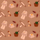 Colored spa seamless pattern