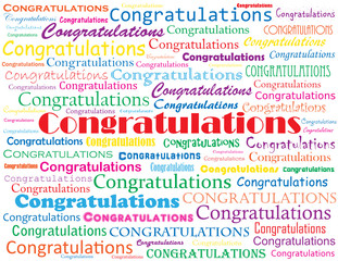 """CONGRATULATIONS"" card (exam job wedding well done)"