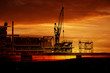 construction sunset