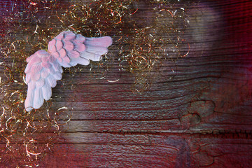 christmas background with angel wings