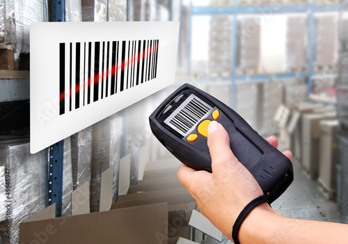 canvas print picture Barcode Scanner