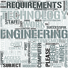 Engineering and Technology Word Cloud Concept