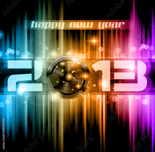 Colorful 2013 New Year Celebration Background