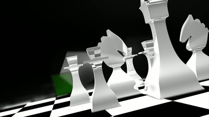 Chess concept animation.