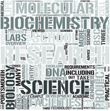 Biochemistry Word Cloud Concept poster