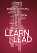 "Word Cloud ""Learn / Lead"""