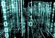 fondo abstracto de tecnologia 3d.Lenguaje binario