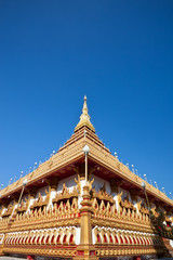 Beautiful Temple on blue sky background