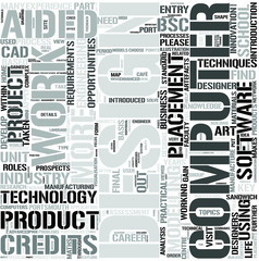 Computer AidedProductDesign Word Cloud Concept