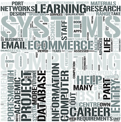 Computing and Information SystemsDl Word Cloud Concept
