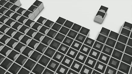 Conceptual 3d tetris animation.